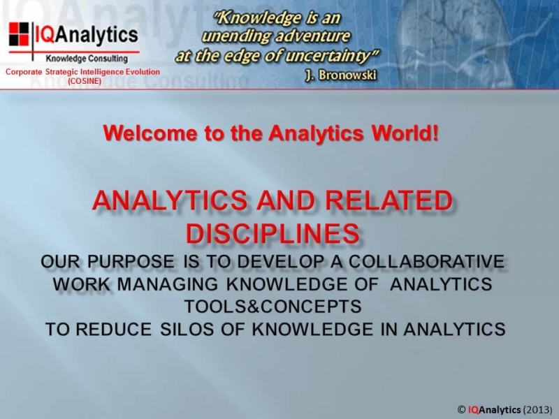 Analytics World 1